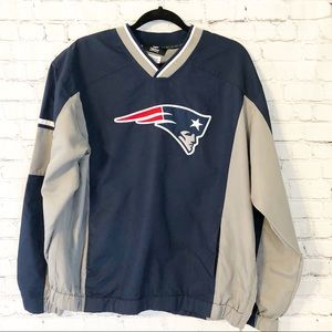 NFL Apparel Patriots Windbreaker Pullover Large